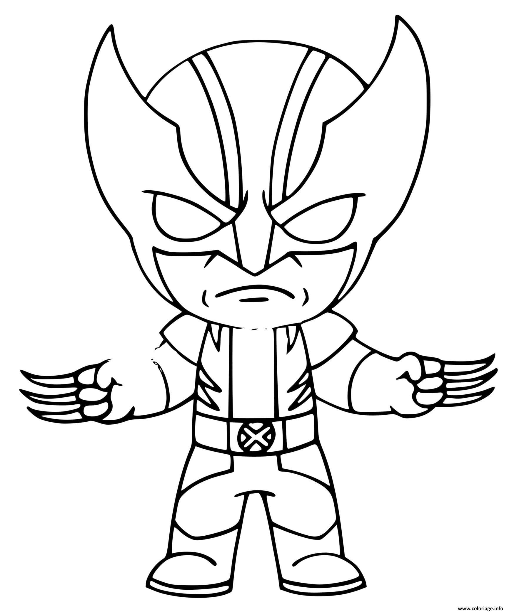 Dessin Wolverine fortnite Coloriage Gratuit à Imprimer