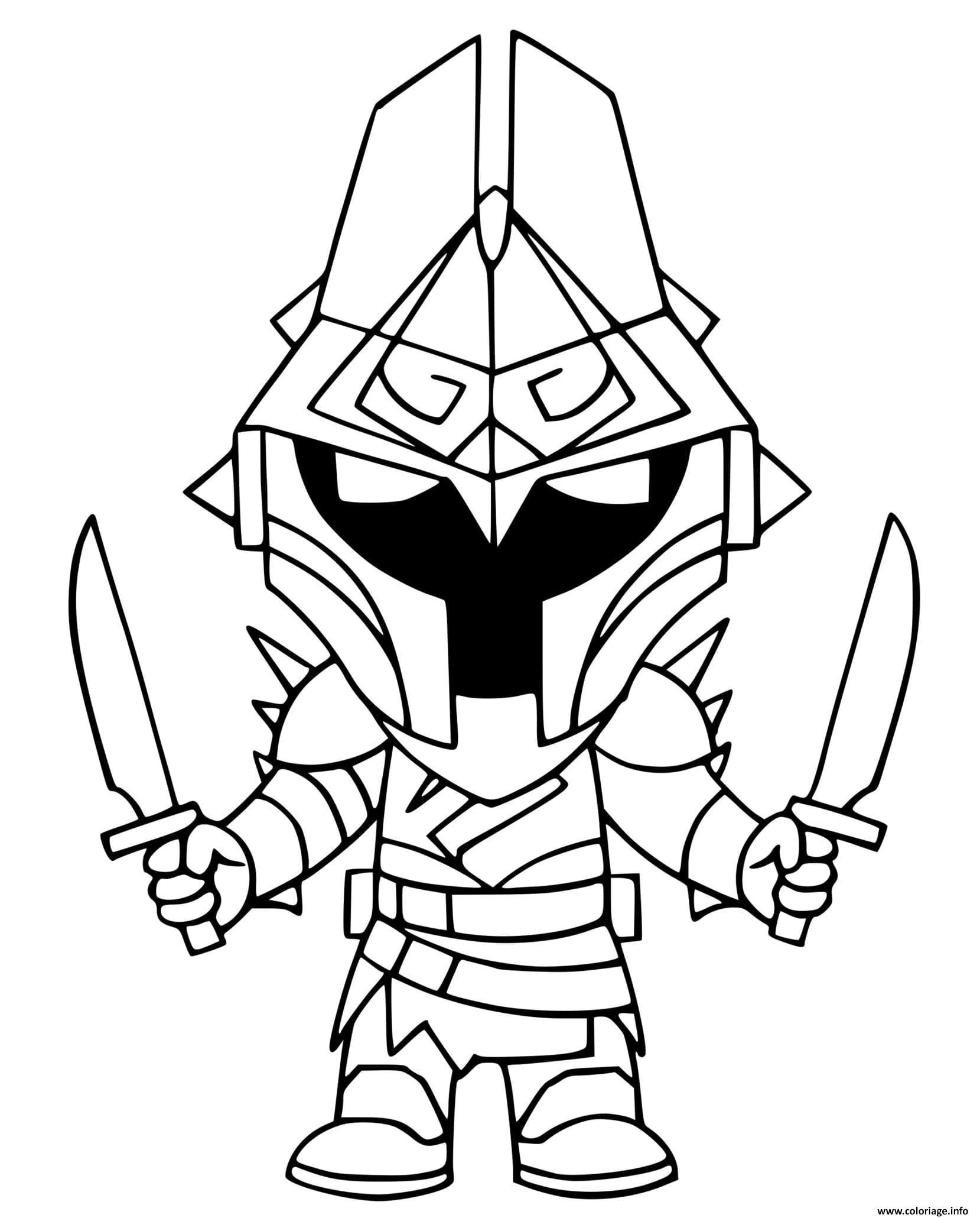 Dessin Eternal Knight Coloriage Gratuit à Imprimer