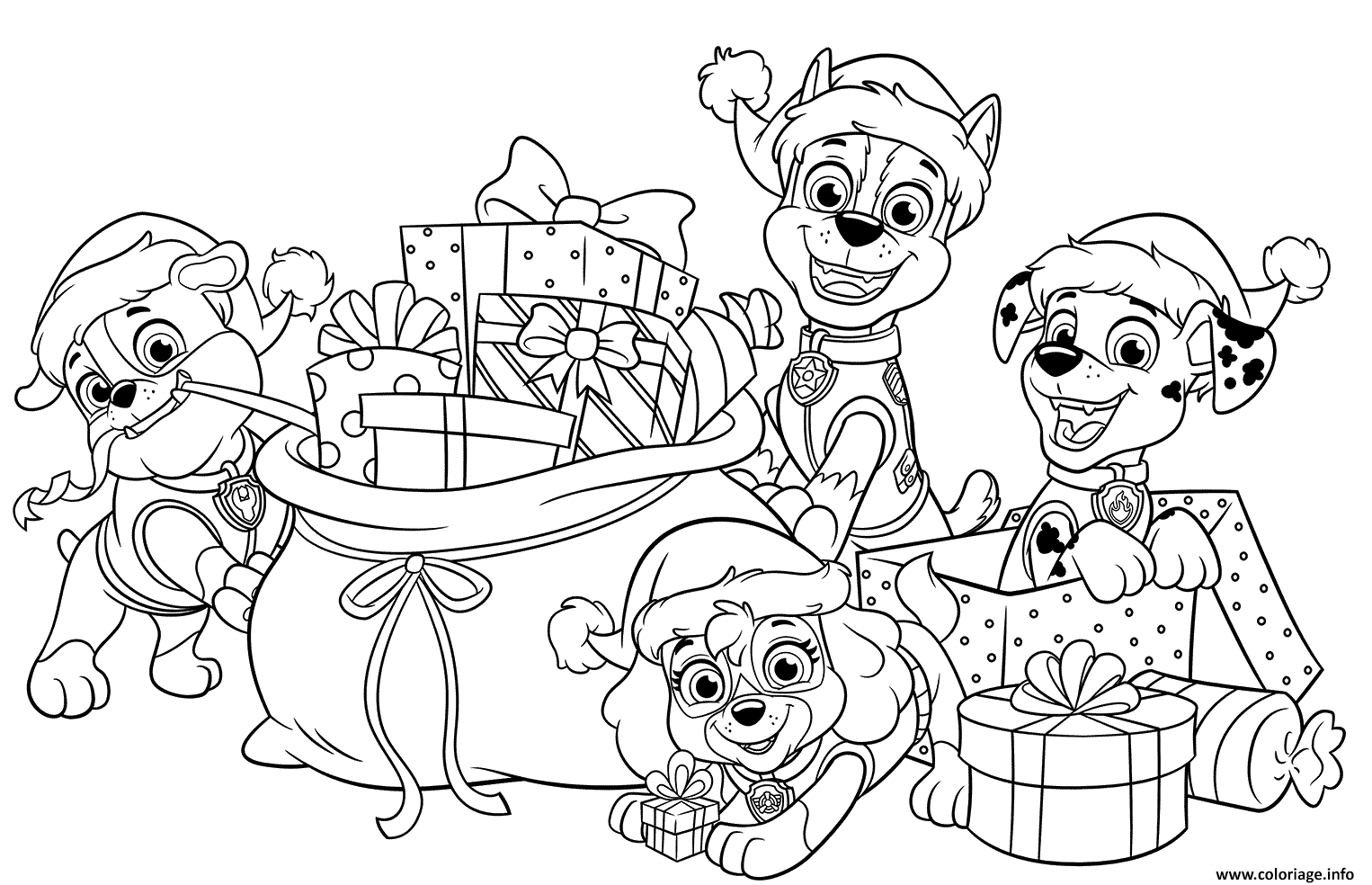 Coloriage Pat Patrouille Christmas Gifts Dessin Pat ...