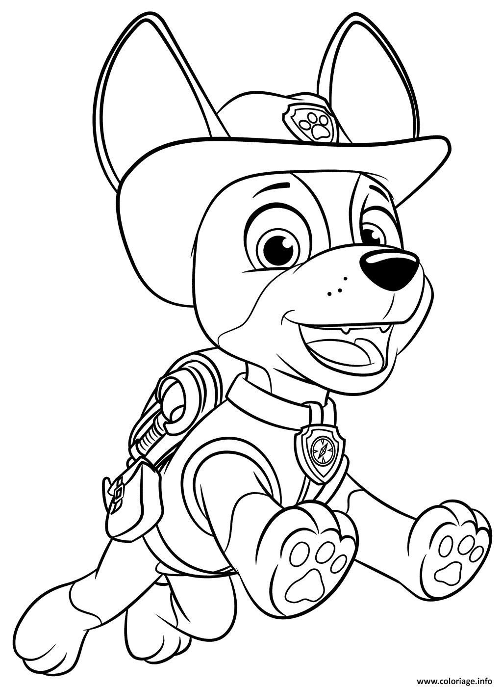 Coloriage Pat Patrouille Jungle Pup Tracker Dessin Pat ...