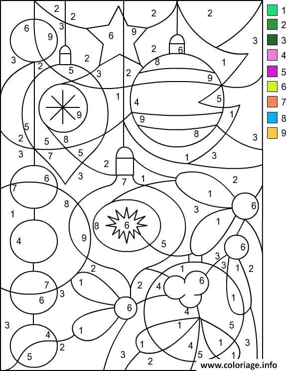 Coloriage Noel Par Numero Chiffre Magique - JeColorie.com