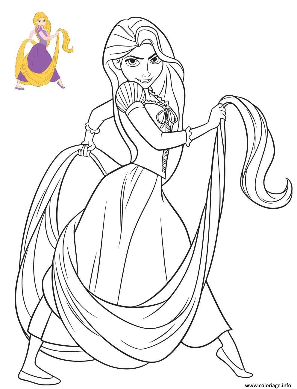 Coloriage Princesse Disney Raiponce Jecolorie Com