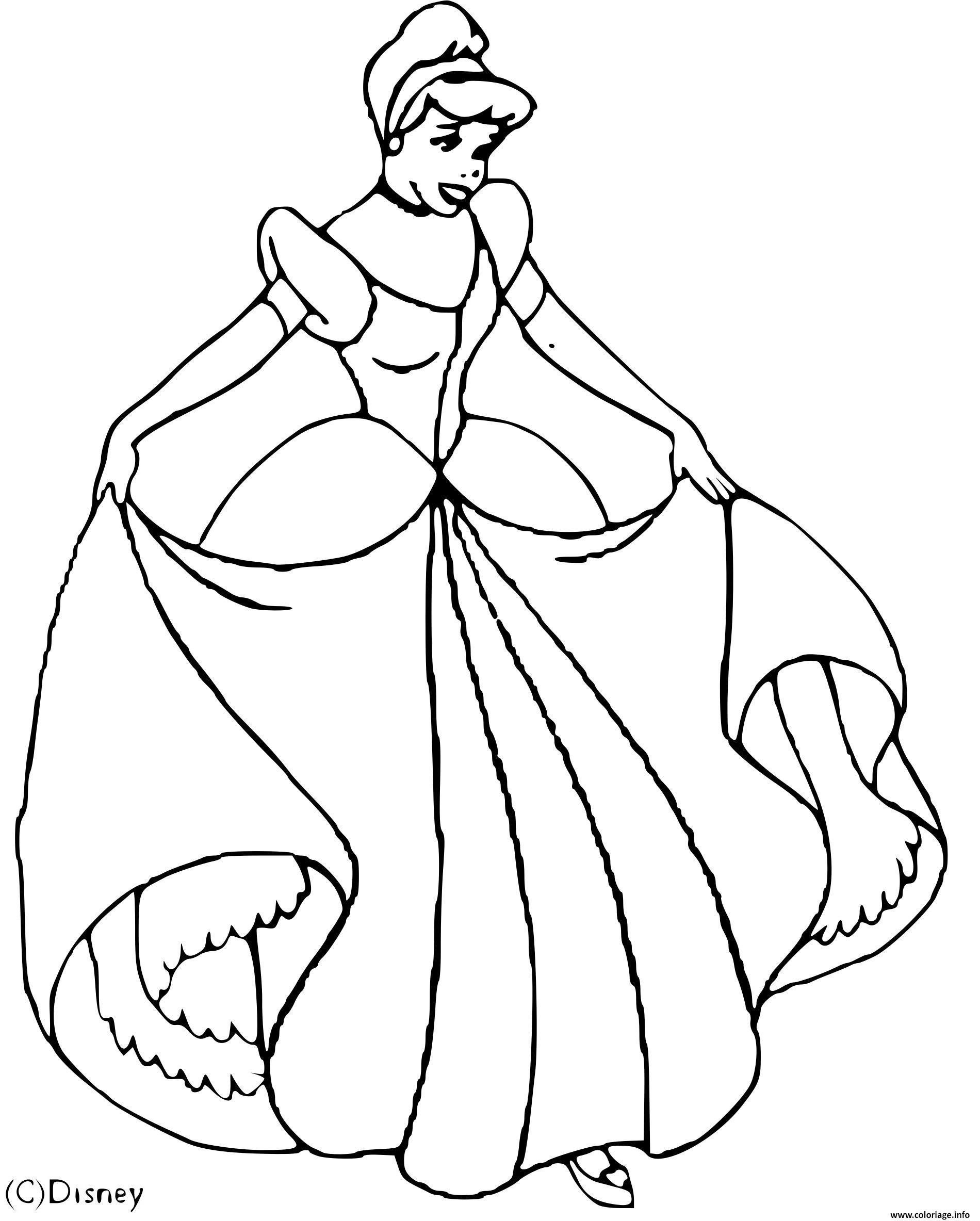 Coloriage Cendrillon Disney Dessin Cendrillon A Imprimer