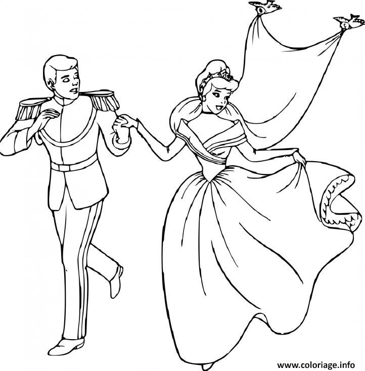 Coloriage Cendrillon Et Son Prince Charmant Royaume Dessin Cendrillon A Imprimer