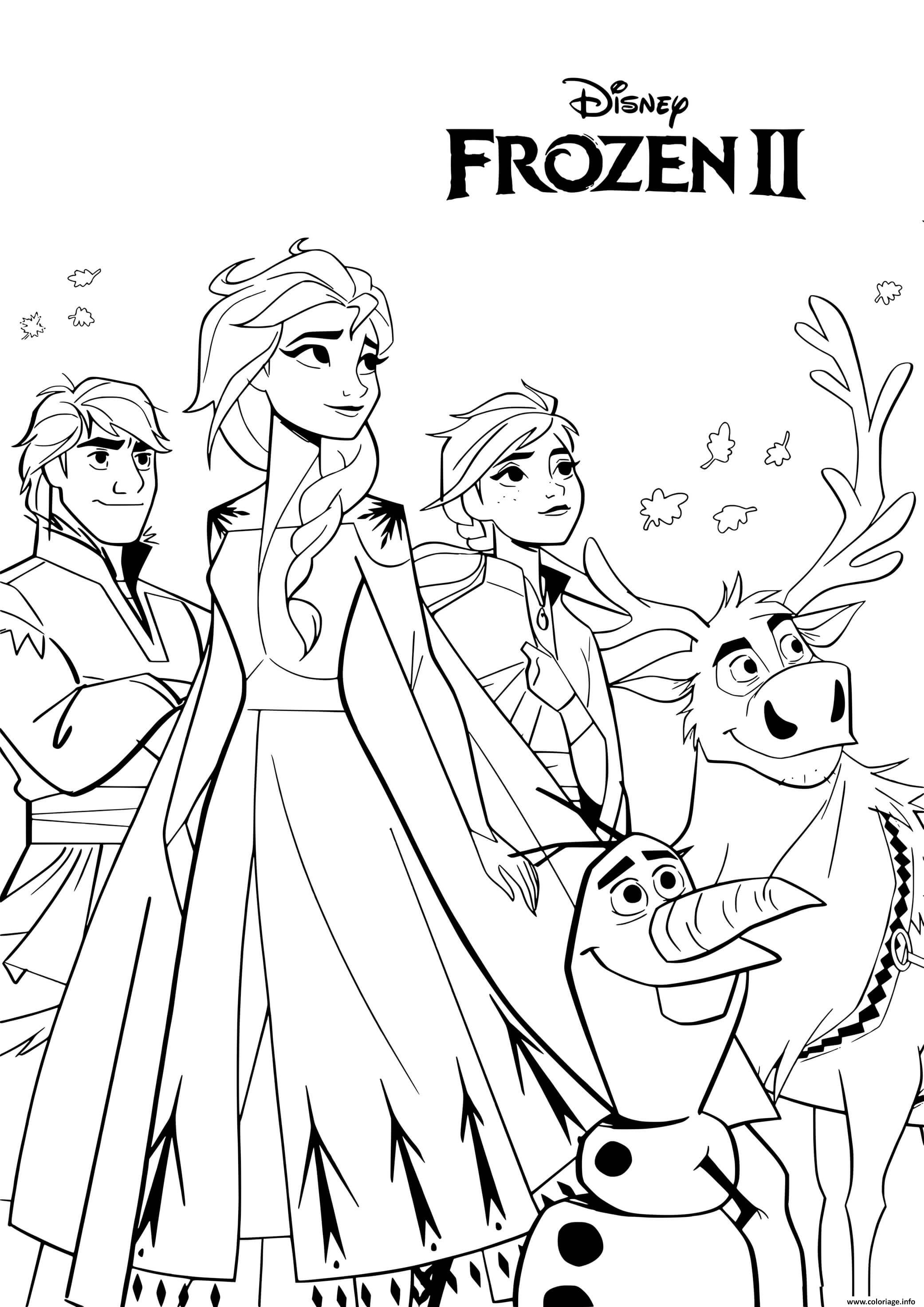 Coloriage Animated Disney Movie Reine Des Neiges 2 Jecolorie Com