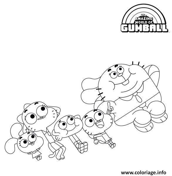 Dessin Une super famille Coloriage Gratuit à Imprimer