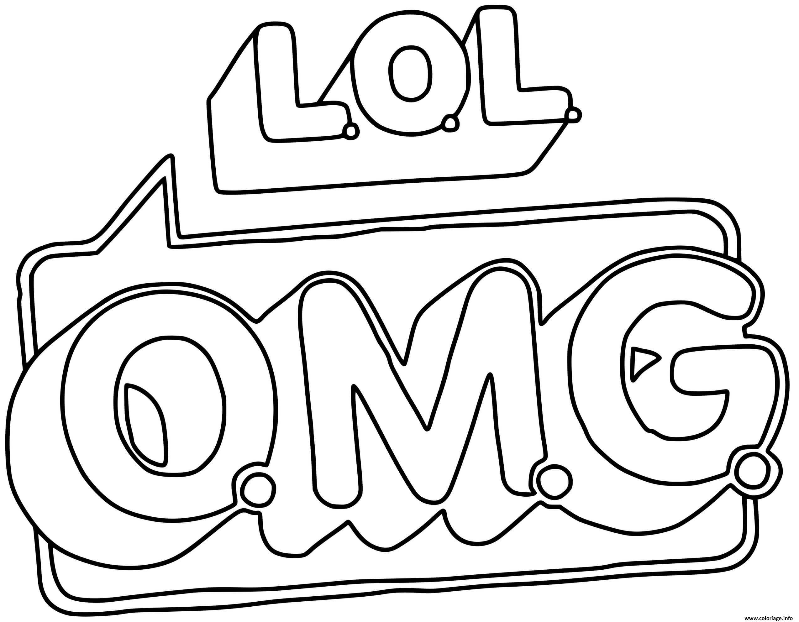 Dessin LOL OMG Logo Coloriage Gratuit à Imprimer