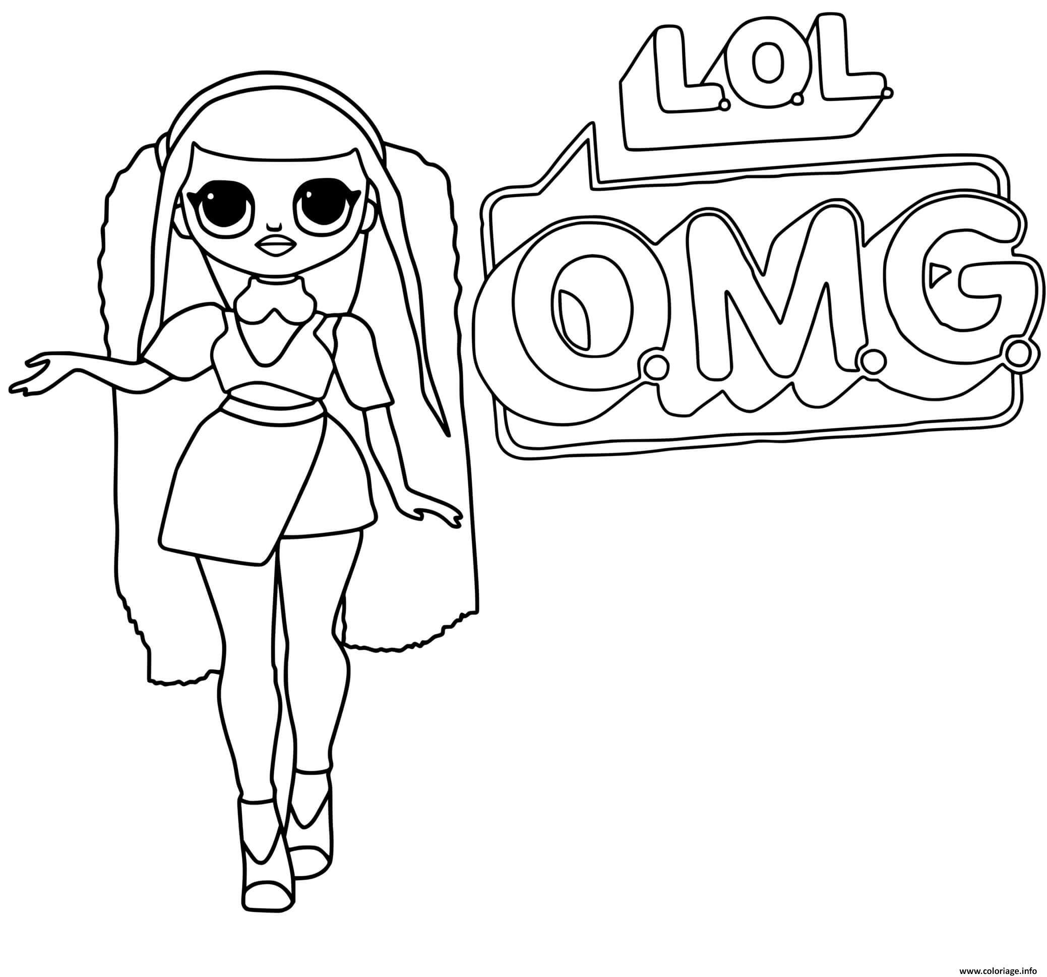 Dessin Lol Omg Logo Canylicious Girl Coloriage Gratuit à Imprimer