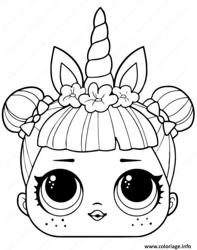 Dessin licorne lol surprise unicorn Coloriage Gratuit à Imprimer