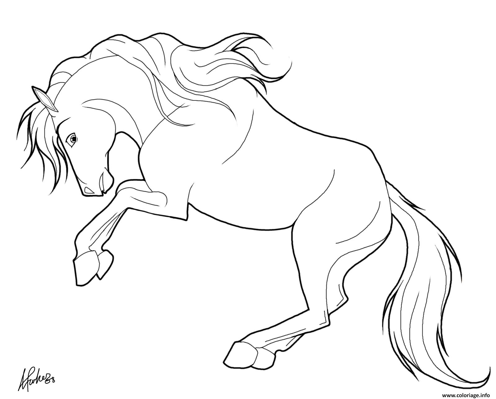 Dessin cheval qui se cabre Coloriage Gratuit à Imprimer