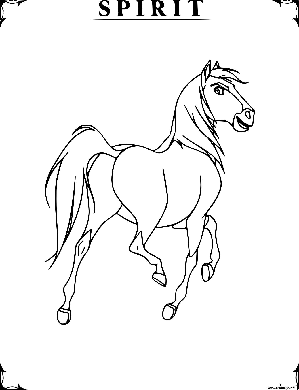 Dessin cheval spirit etalon des plaines Coloriage Gratuit à Imprimer
