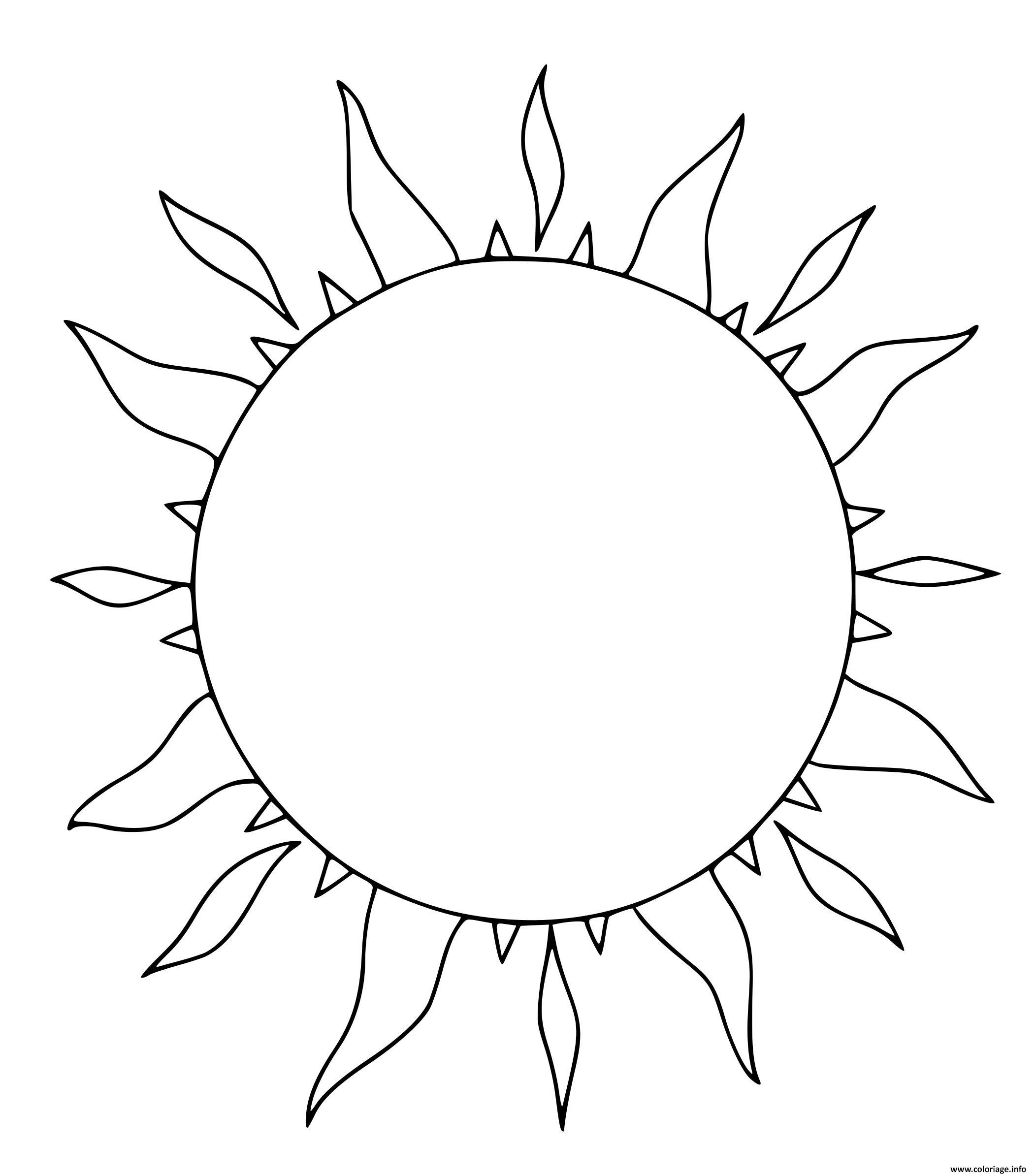 Dessin le soleil en ete Coloriage Gratuit à Imprimer