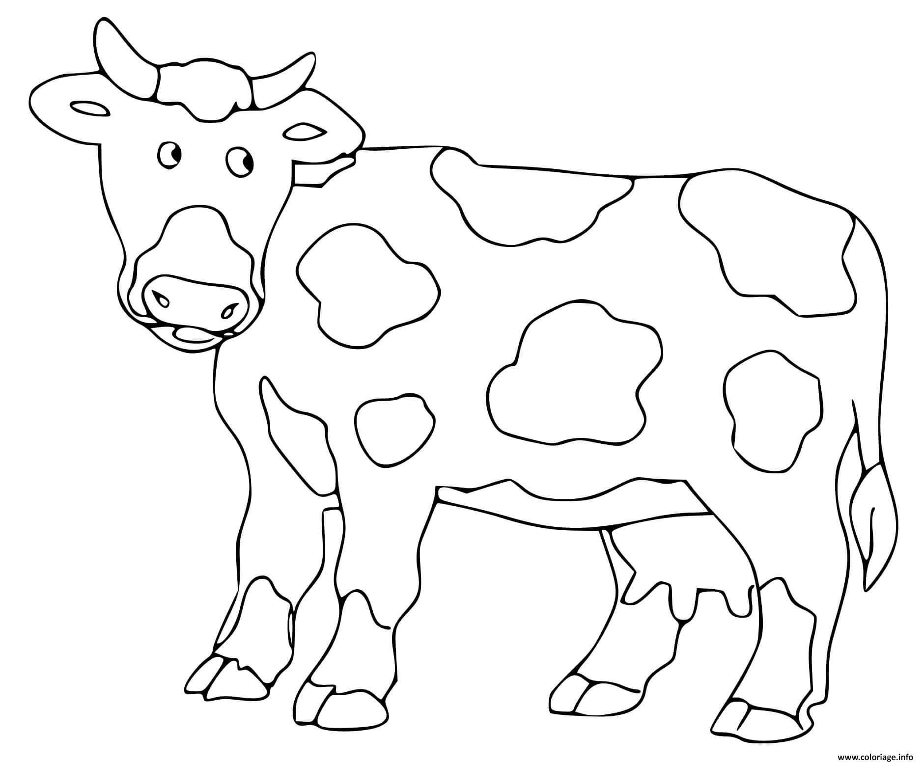 Dessin vache Coloriage Gratuit à Imprimer