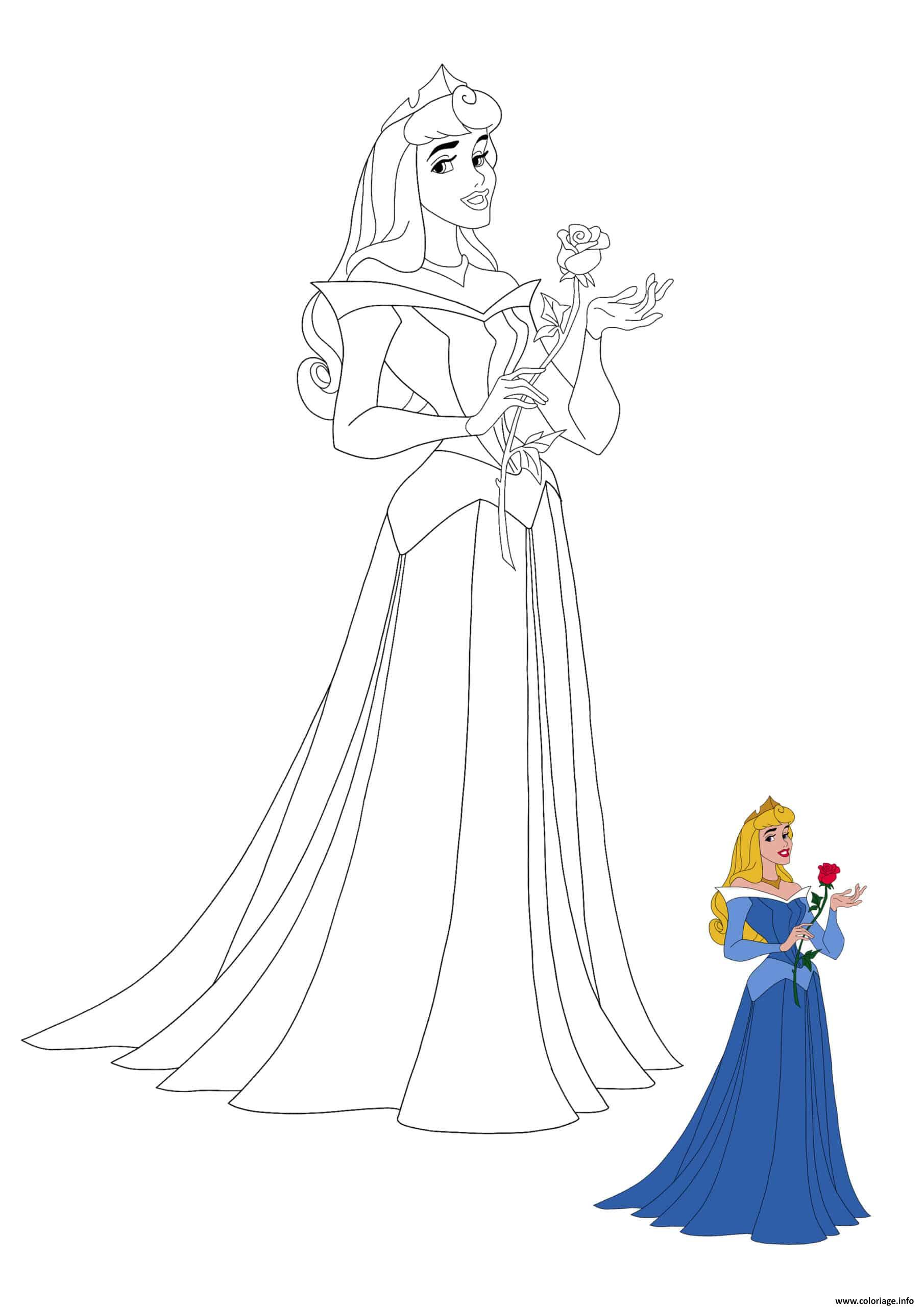 Coloriage Princesse Aurora From Sleeping Beauty Dessin à Imprimer