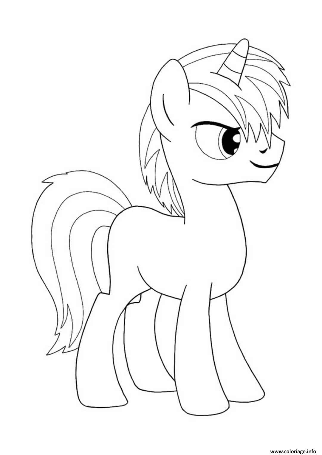 Coloriage My Little Pony Licorne Masculin Dessin Licorne à ...