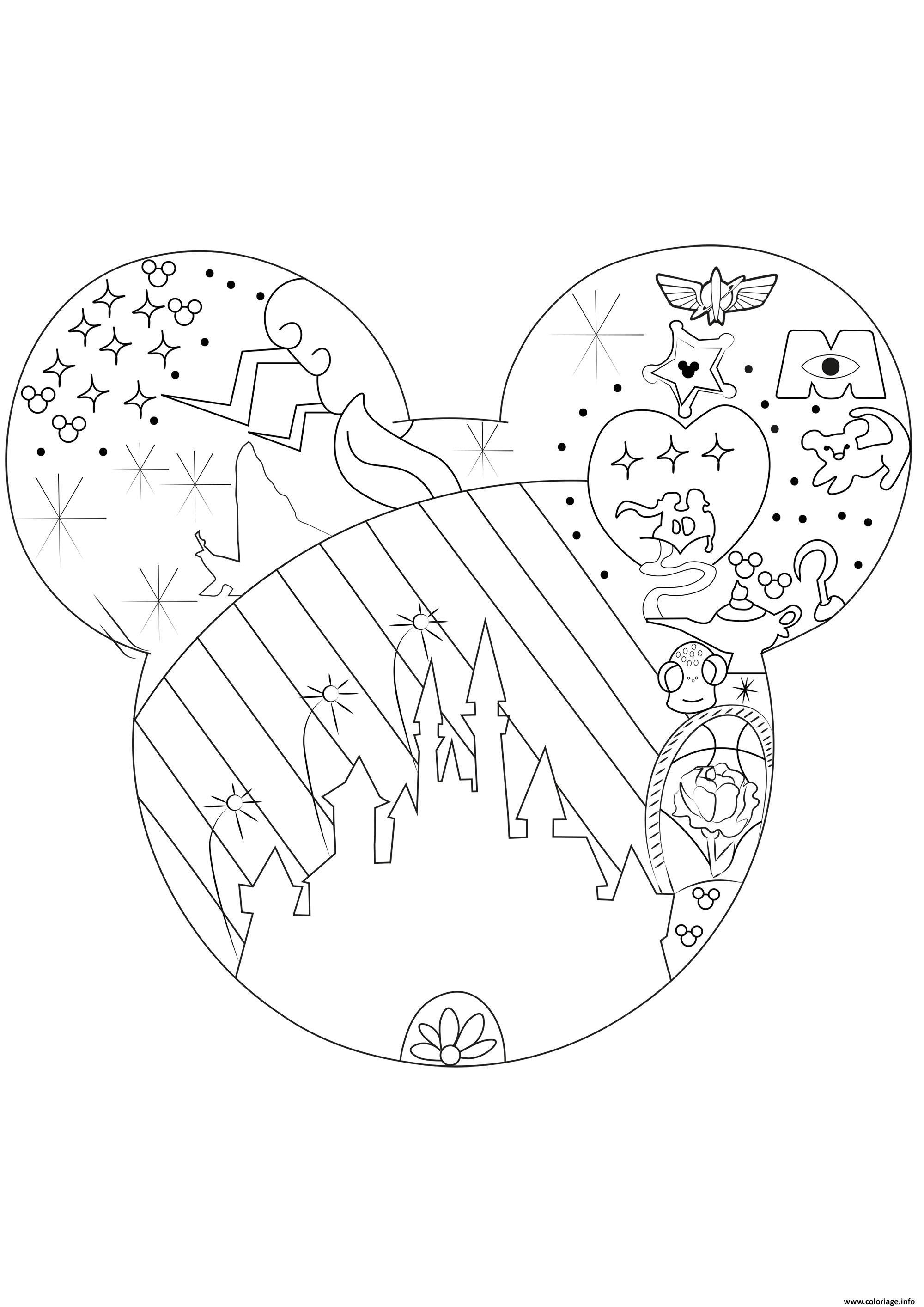 Coloriage Adulte Univers Disney Dessin Disney Adulte A Imprimer