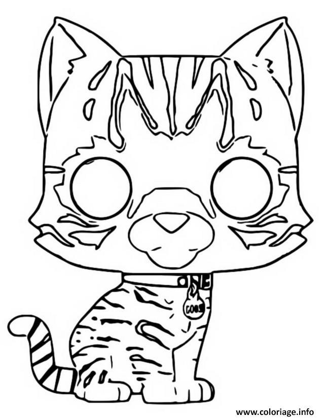 Dessin funko pop marvel goose the cat Coloriage Gratuit à Imprimer