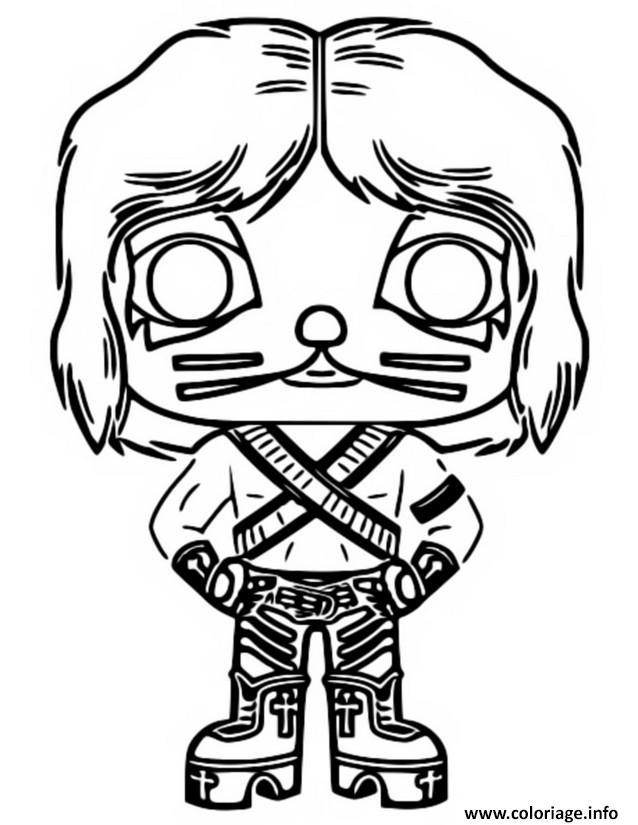 Dessin funko pop rock catman Coloriage Gratuit à Imprimer