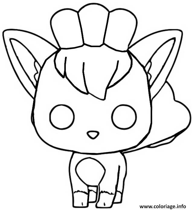 Dessin funko pop pokemon goupix Coloriage Gratuit à Imprimer