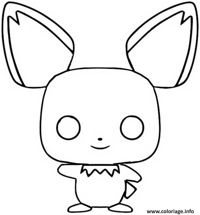 Dessin funko pop pokemon pichu Coloriage Gratuit à Imprimer
