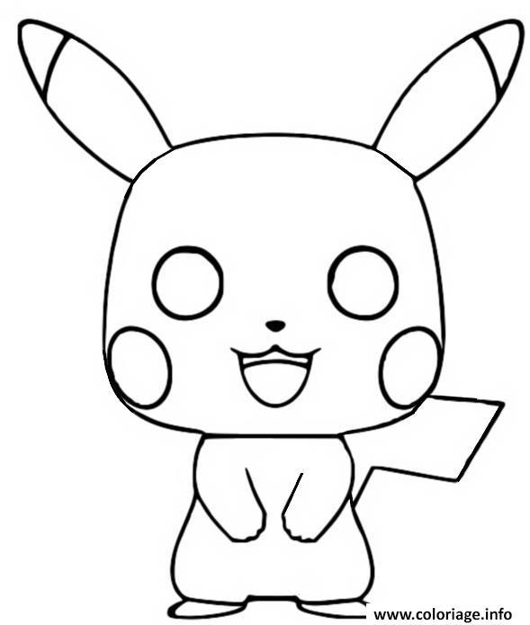 Dessin funko pop pokemon pikachu Coloriage Gratuit à Imprimer