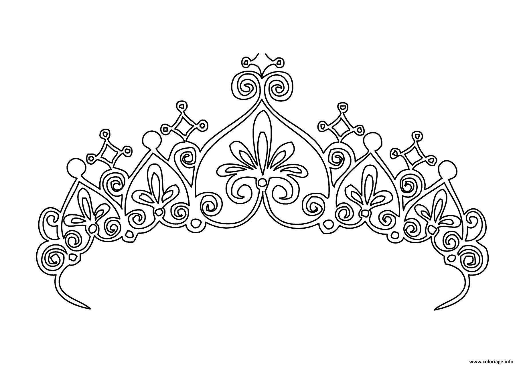 Coloriage Couronne Princesse Fille Dessin Couronne à imprimer