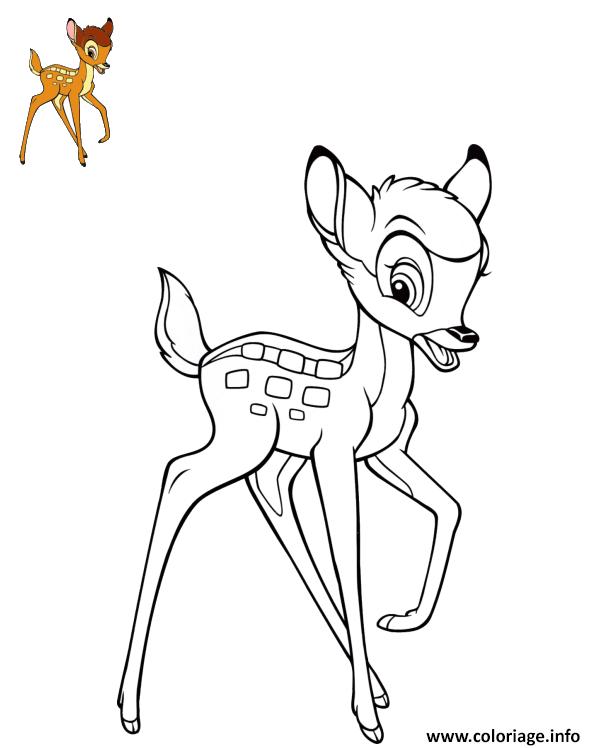 Dessin bambi disney film 1942 Coloriage Gratuit à Imprimer