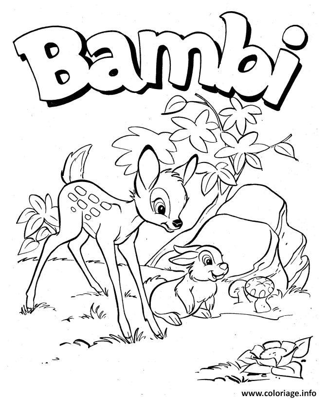 Dessin bambi panpan disney Coloriage Gratuit à Imprimer