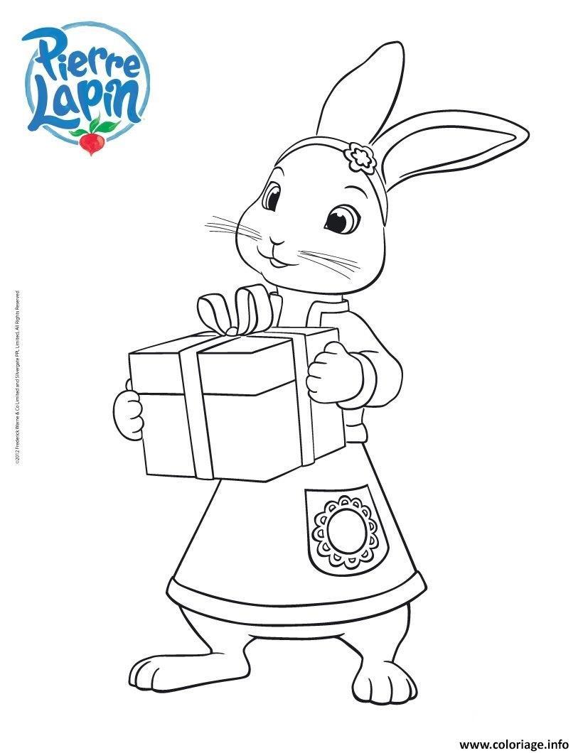 Dessin Lily ami du lapin charismatique Pierre Coloriage Gratuit à Imprimer