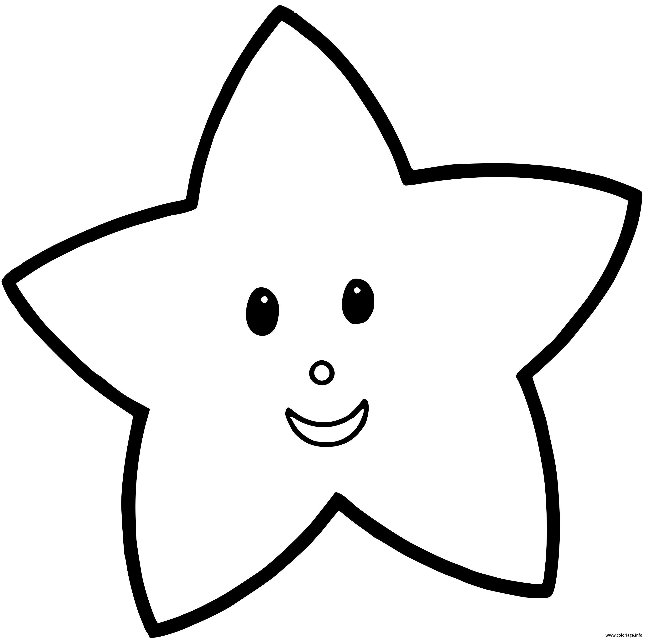 Dessin etoile pour enfant Coloriage Gratuit à Imprimer