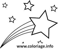 Dessin etoile filante dans le ciel Coloriage Gratuit à Imprimer