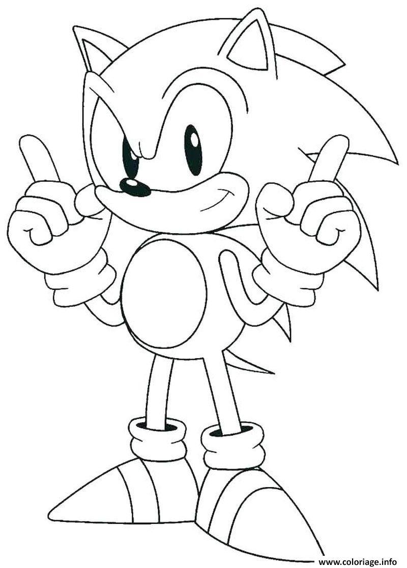 Coloriage Sonic Le Herisson Bleu Dessin Herisson à imprimer