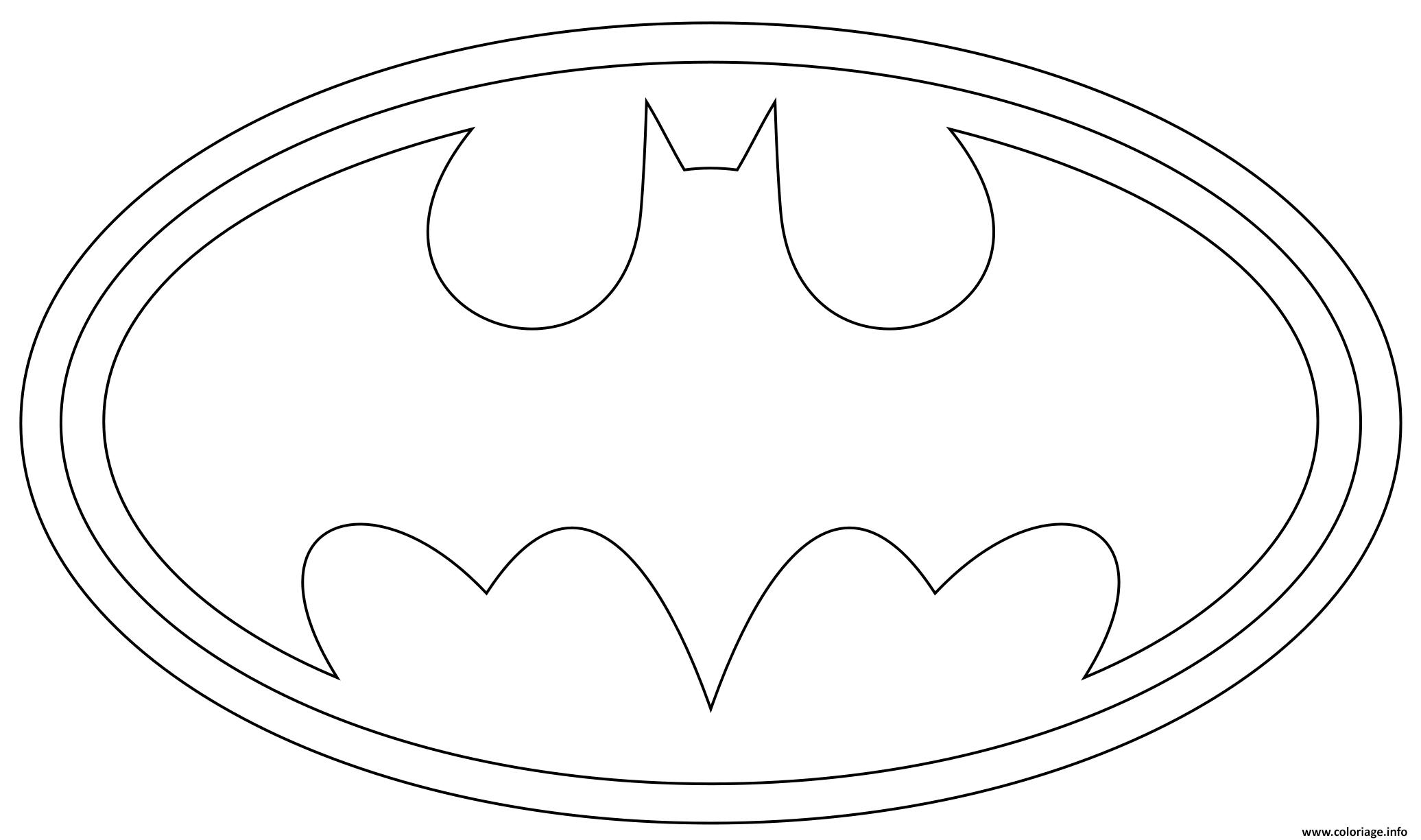 coloriage logo batman dessin batman à imprimer