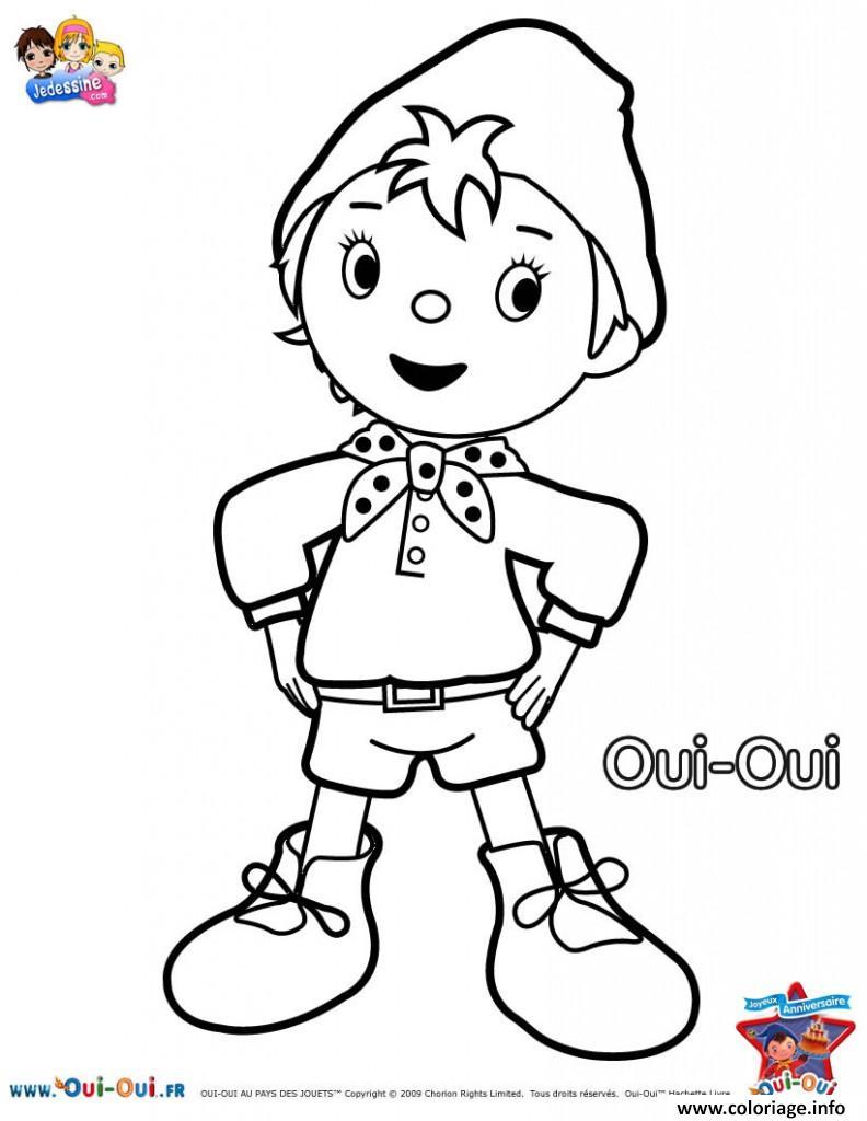Coloriage dessin anime oui oui pour enfants   JeColorie.com