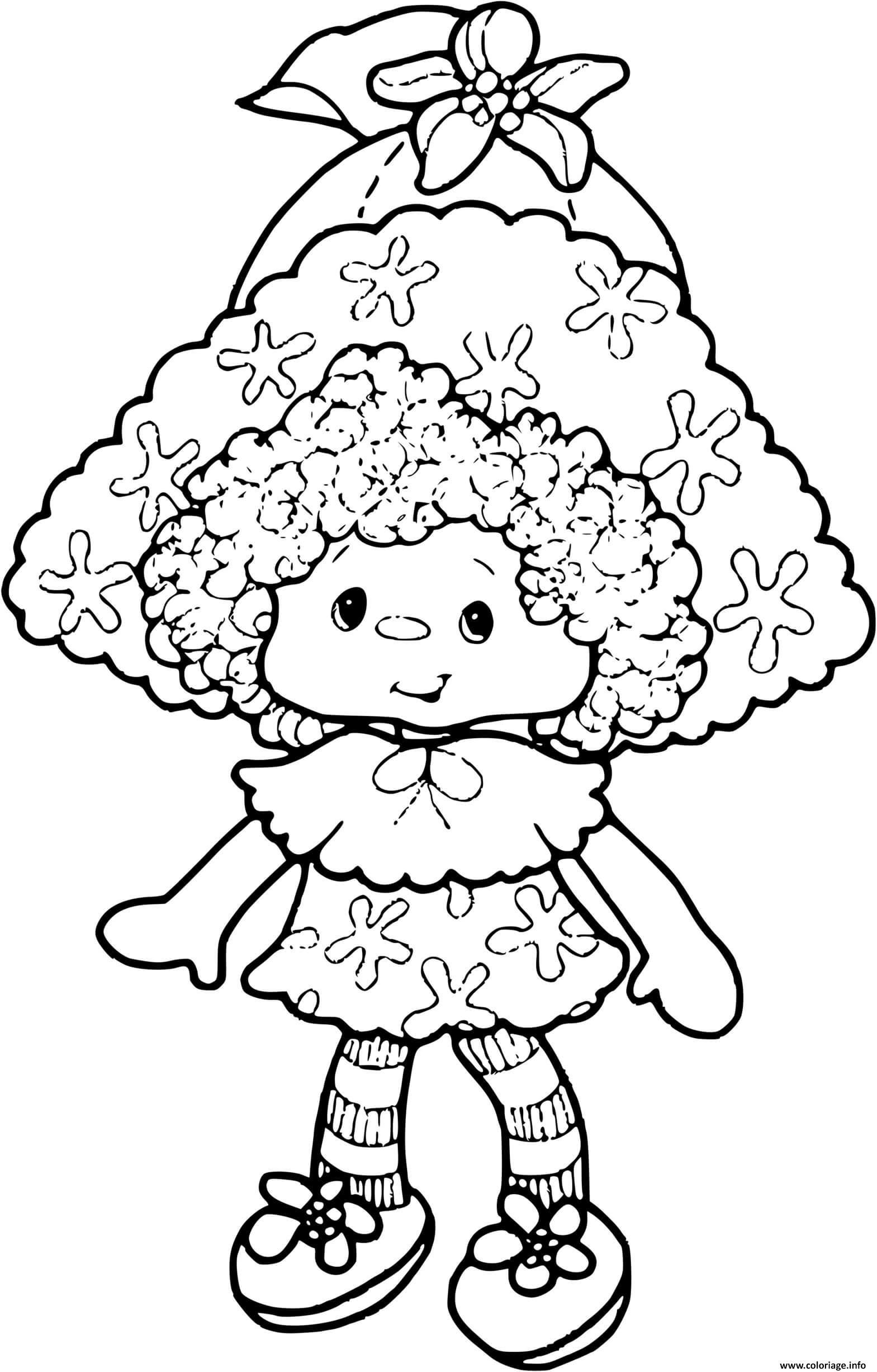 Dessin Charlotte aux fraises poupee Coloriage Gratuit à Imprimer