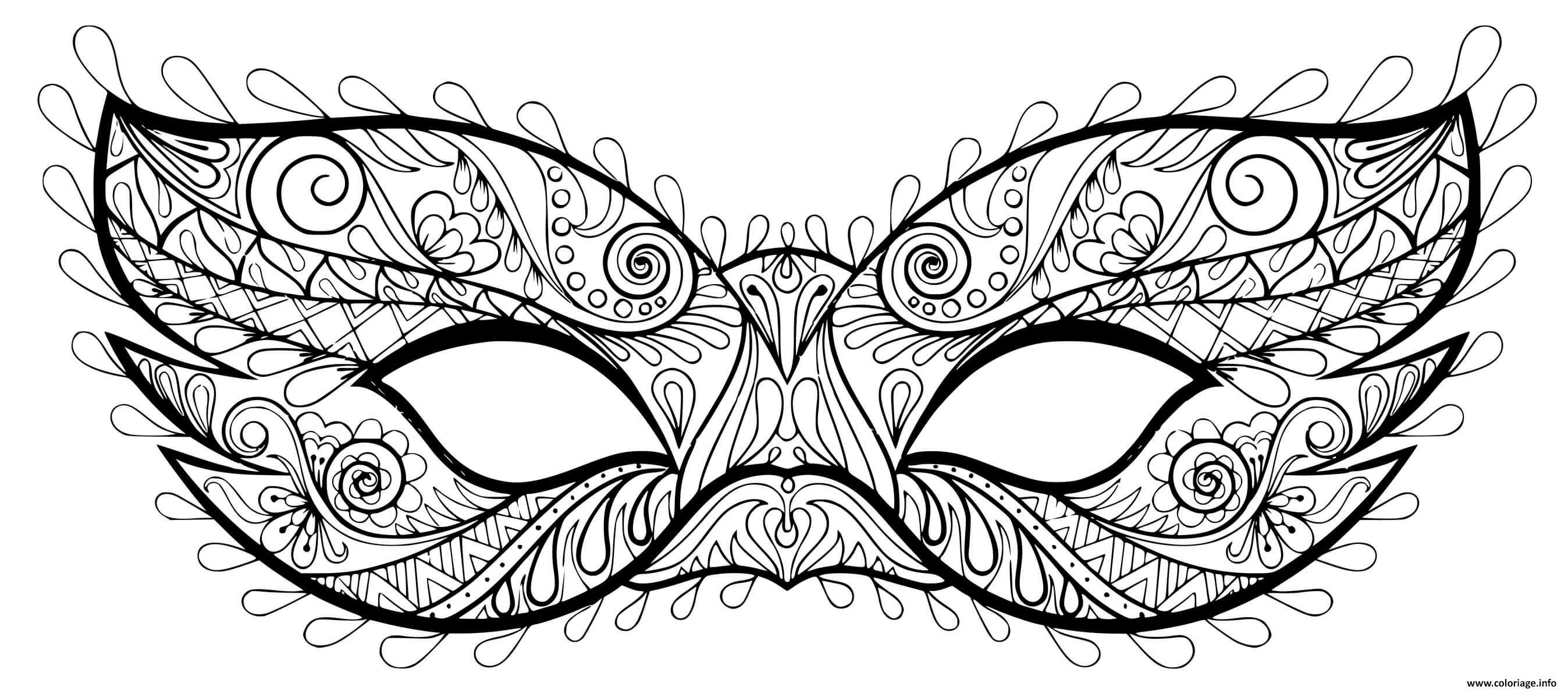 Coloriage masque carnaval mystere   JeColorie.com