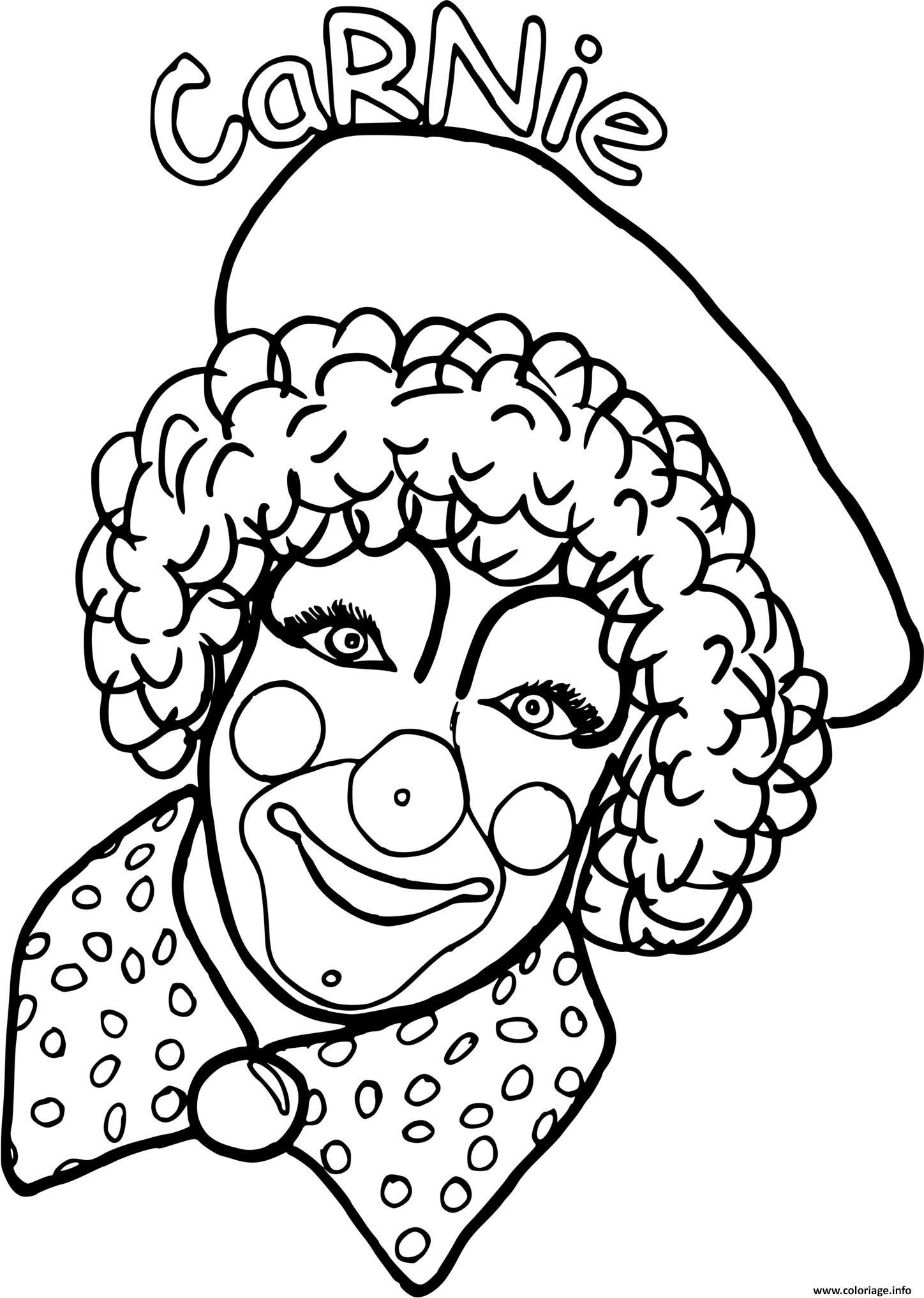 Dessin dessin clown Carnie Coloriage Gratuit à Imprimer
