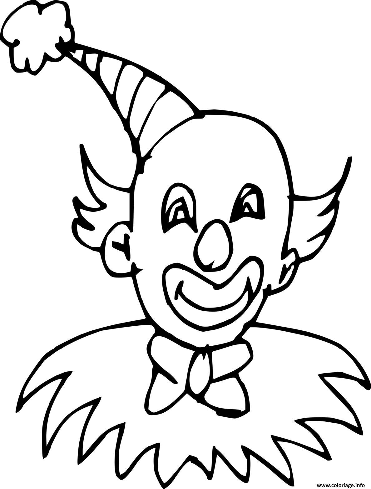 Dessin un clown chauve Coloriage Gratuit à Imprimer