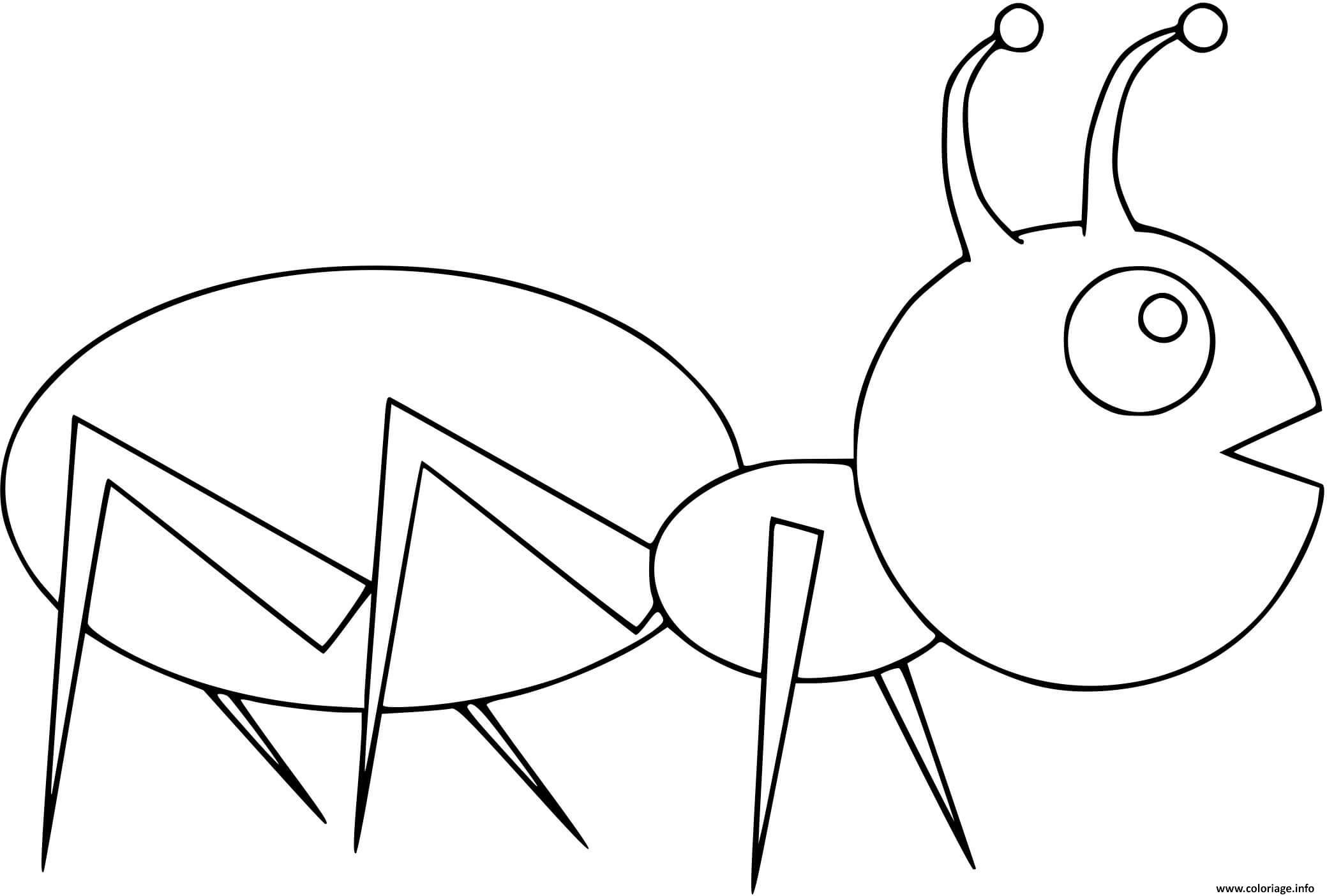 Dessin fourmi facile maternelle Coloriage Gratuit à Imprimer