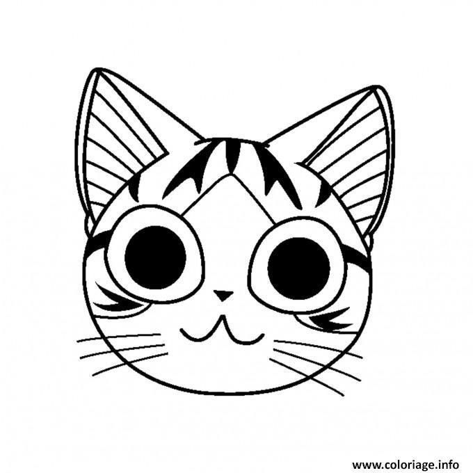 Dessin chaton chi la tete Coloriage Gratuit à Imprimer