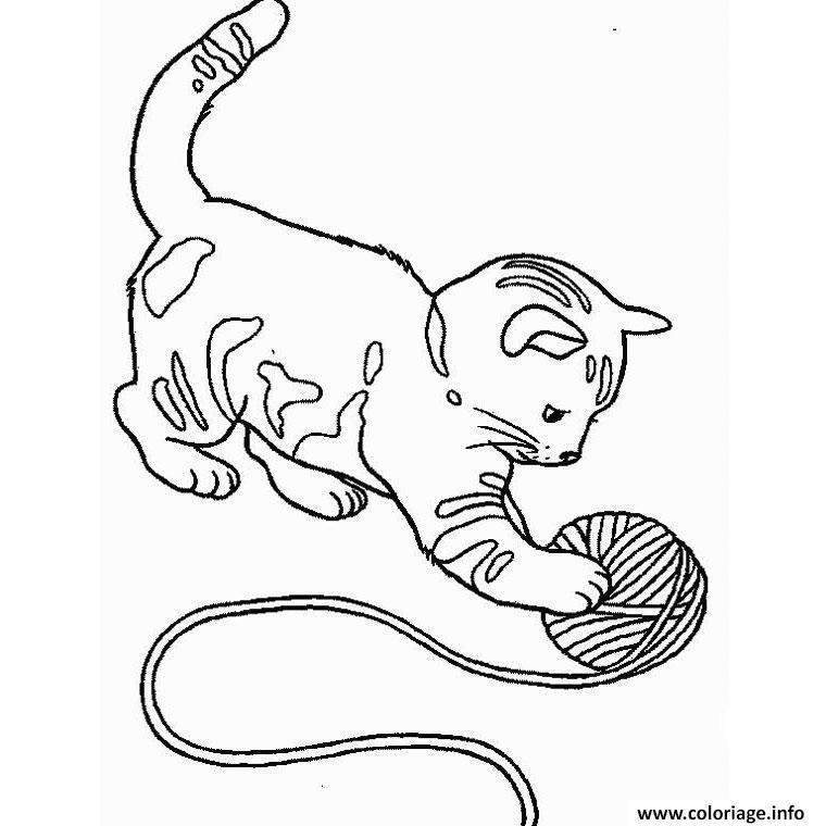 Dessin chaton chatonon Coloriage Gratuit à Imprimer
