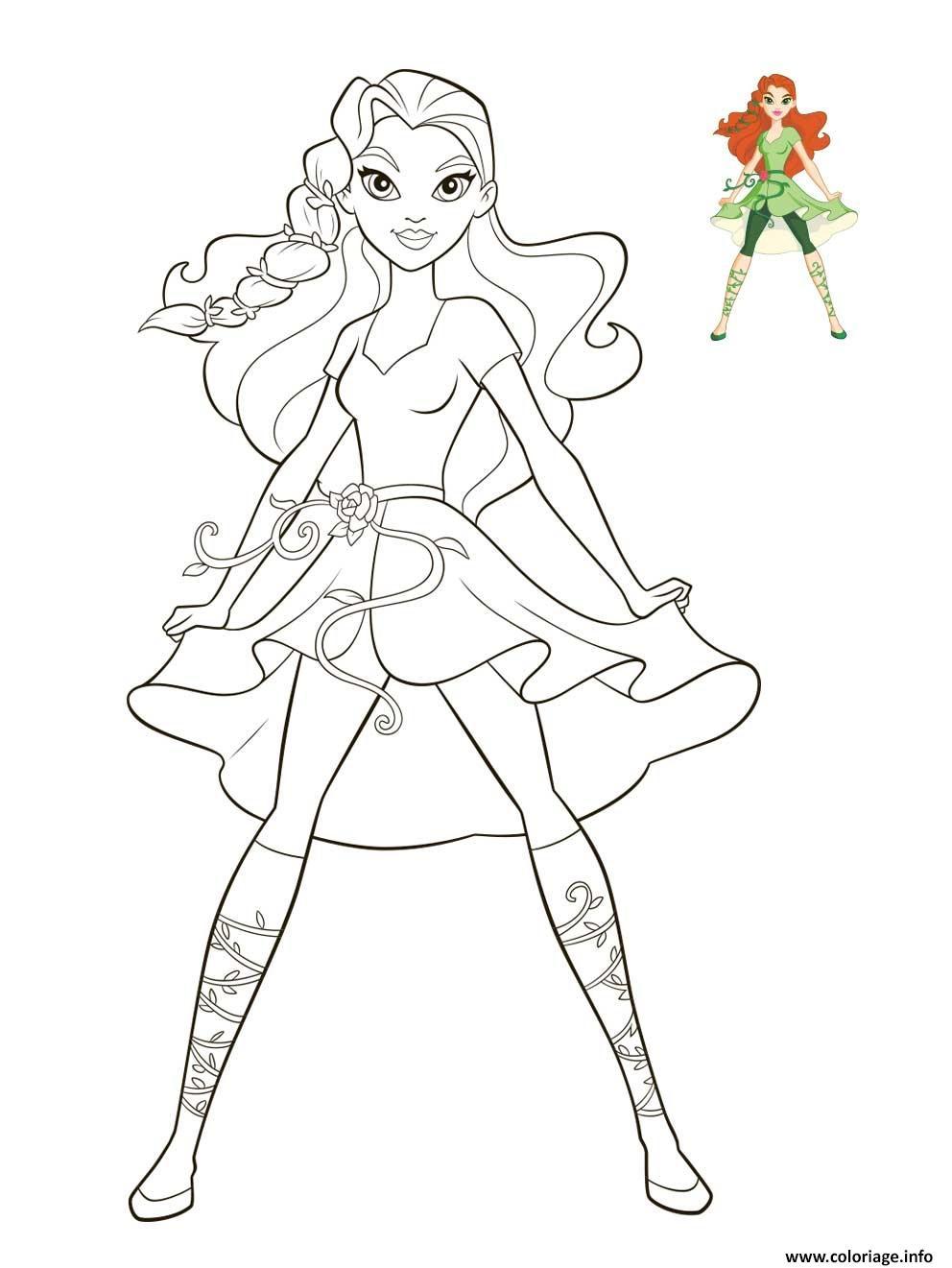 Dessin Poison Ivy DC Super Hero Girls Coloriage Gratuit à Imprimer