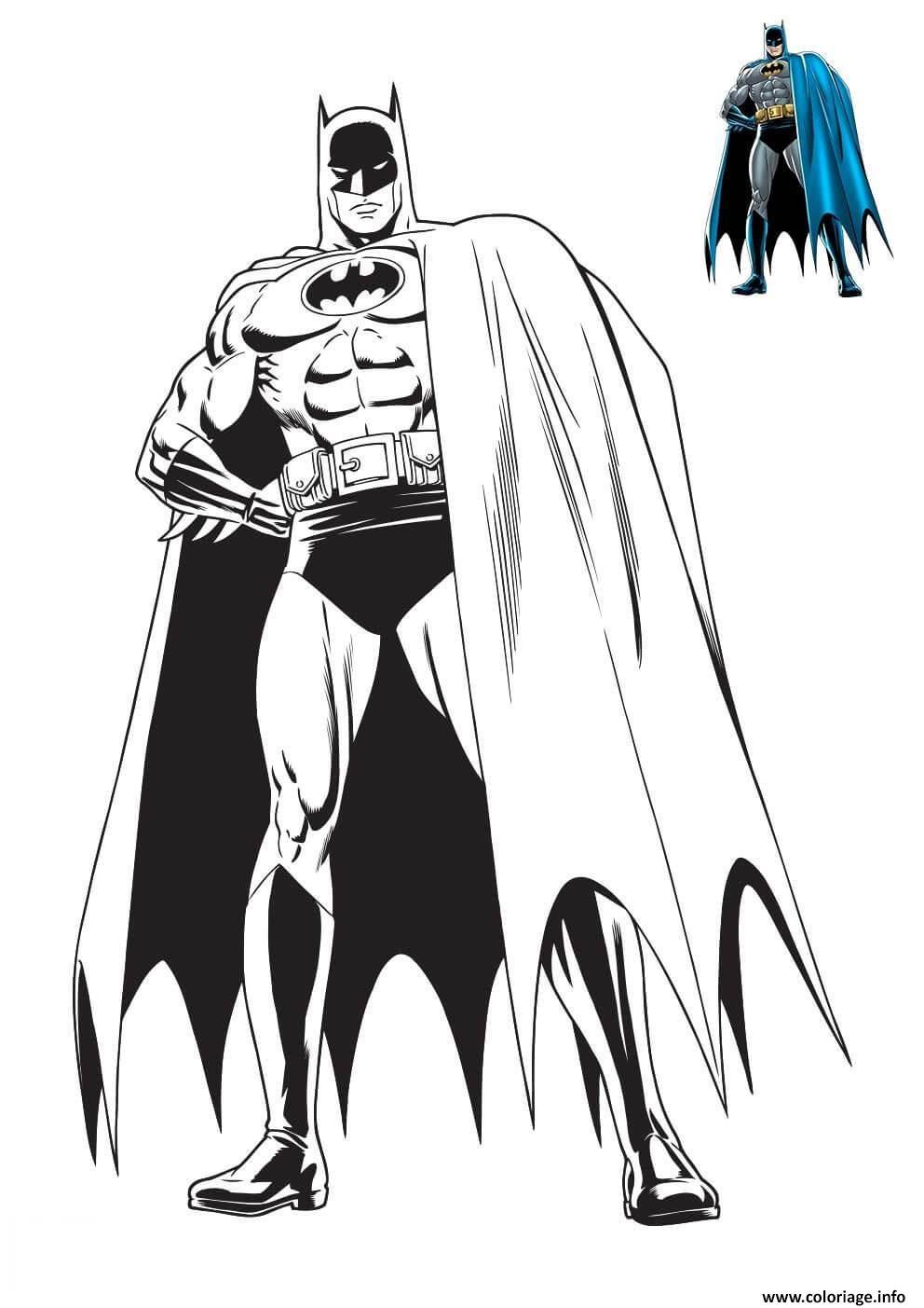 Dessin homme chauve souris de DC Comics Coloriage Gratuit à Imprimer