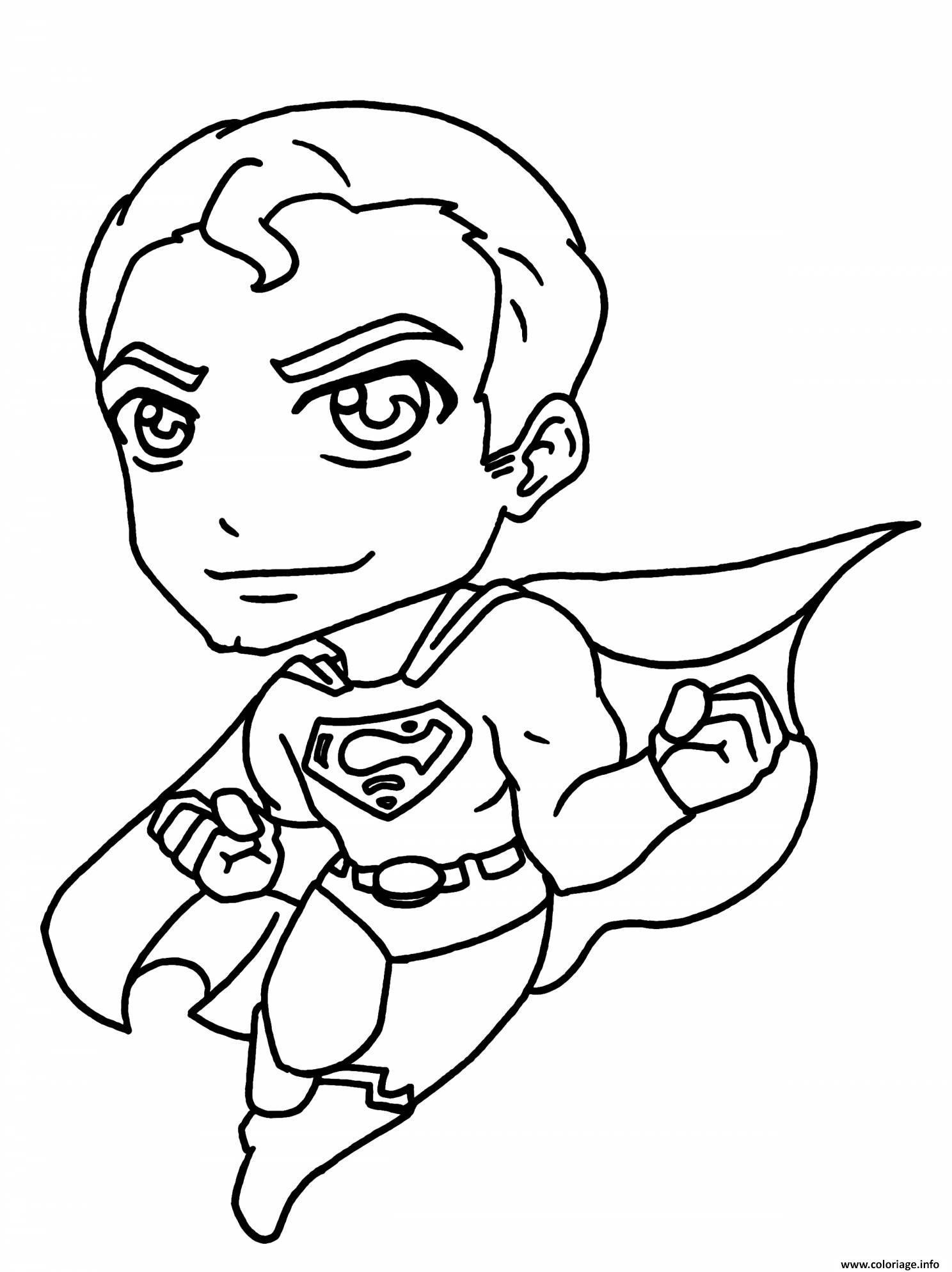 Dessin garcon super heros superman Coloriage Gratuit à Imprimer