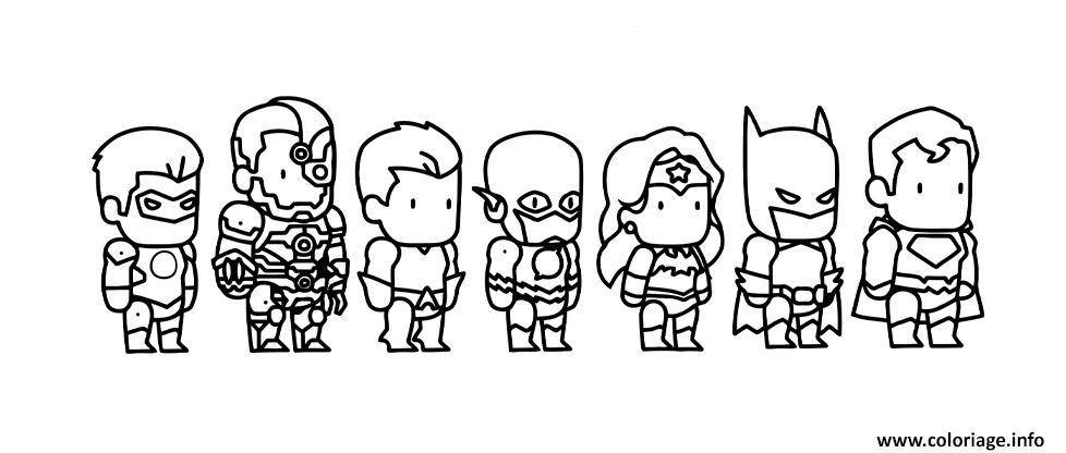 Dessin mini comics super heroes Coloriage Gratuit à Imprimer