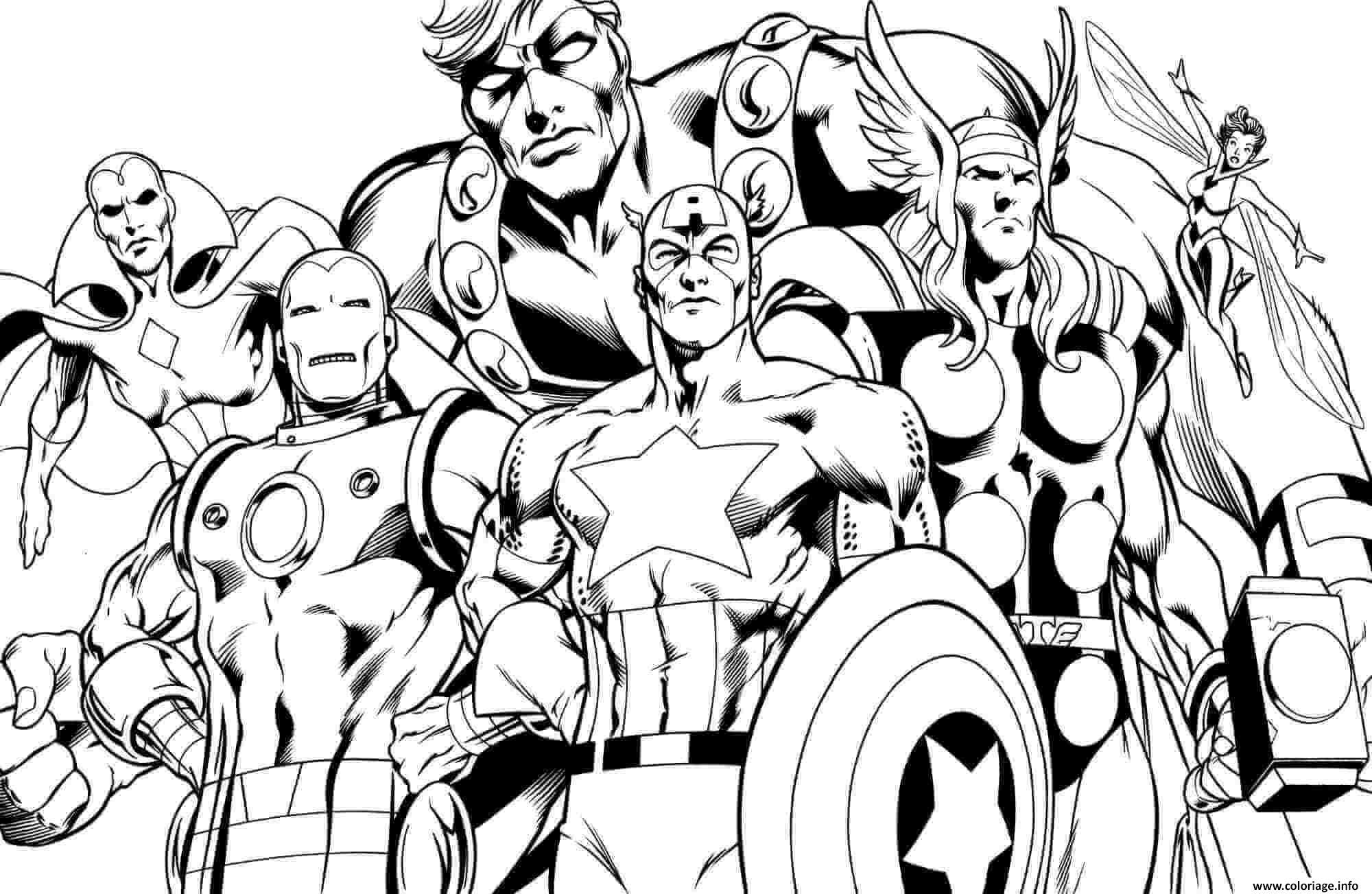 Dessin superhero avengers sheets little kids Coloriage Gratuit à Imprimer