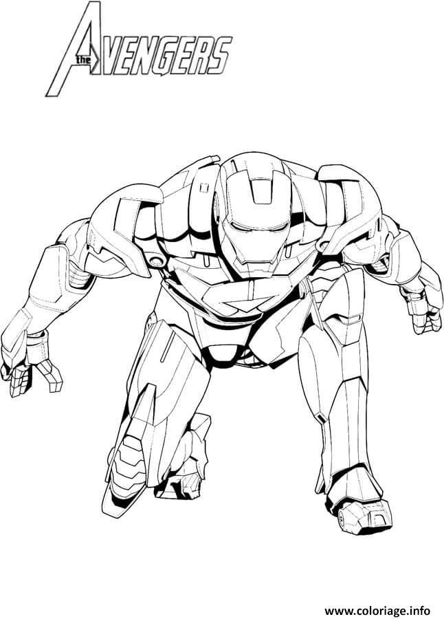 Dessin avengers iron man Coloriage Gratuit à Imprimer
