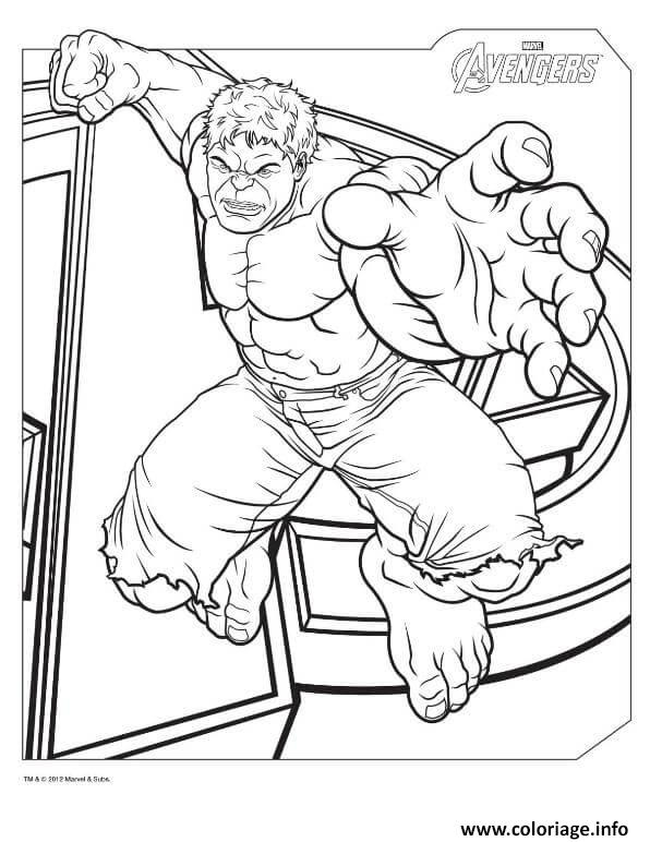 Dessin hulk from the avengers marvel Coloriage Gratuit à Imprimer