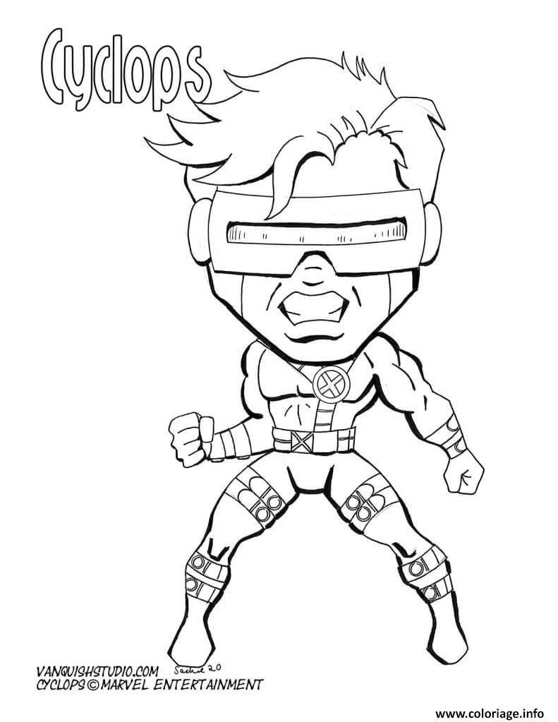 Dessin cyclops marvel super heros Coloriage Gratuit à Imprimer