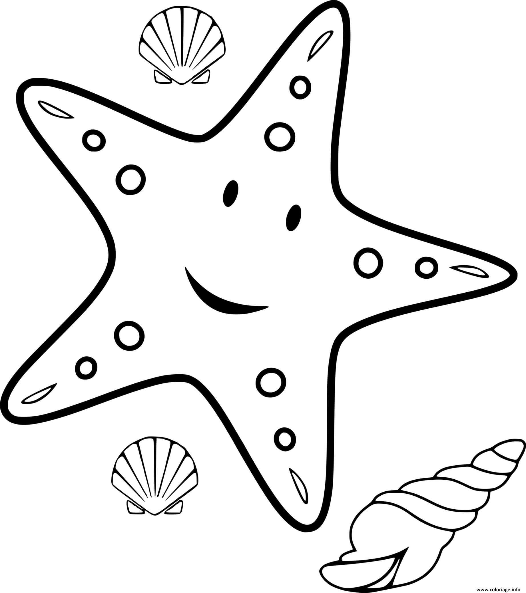 Coloriage Etoile De Mer Dessin Mer à imprimer